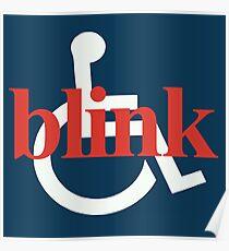 Vintage BLINK 182 (Pre-182) Wheelchair Design Poster