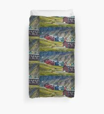 Remote Town Duvet Cover