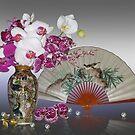 Asian still life with orchids von Irisangel