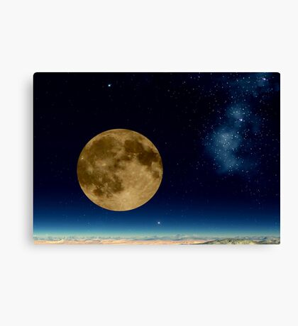 Death Valley Moon Canvas Print