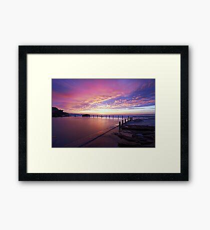 Mahon Pool Sunrise Framed Print