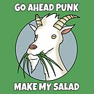 «Vegetariano Vegan Cabra Amante Funny Goats Pun» de Maljonic