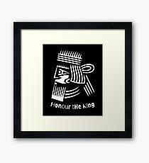 Honor The King  Framed Print