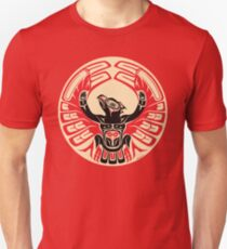 Firebird Thunderbird with Raised Wings, Native American Style Unisex T-Shirt
