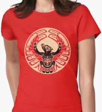 Firebird Thunderbird with Raised Wings, Native American Style Women's Fitted T-Shirt