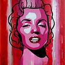 Marilyn Monroe Portrait by Ted Borges