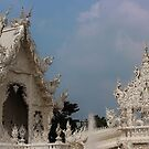 Lanna White Temple - Thailand by brendanscully