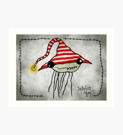 Jellyfish Boy Art Print