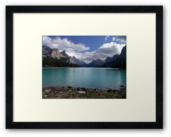 Maligne Lake from Spirit Island by George Cousins