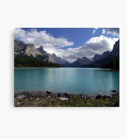 Maligne Lake from Spirit Island Canvas Print