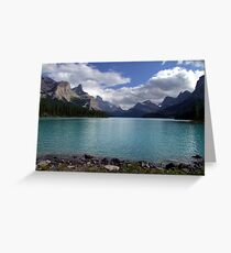 Maligne Lake from Spirit Island Greeting Card