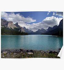 Maligne Lake from Spirit Island Poster