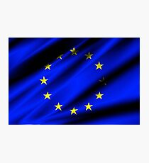 european union flag Photographic Print