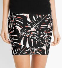 Monstera plant print with big graphic leaves Mini Skirt