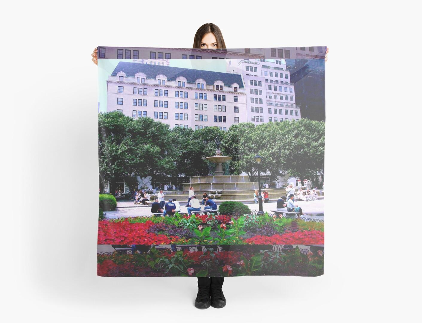 Plaza Hotel/Fountain, NYC, NY by Ellen Turner