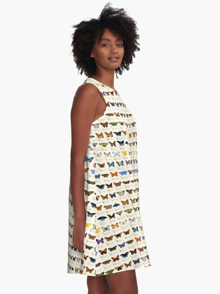 Alternate view of Butterflies of North America A-Line Dress