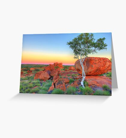 Ghost Gum Contrasts Greeting Card