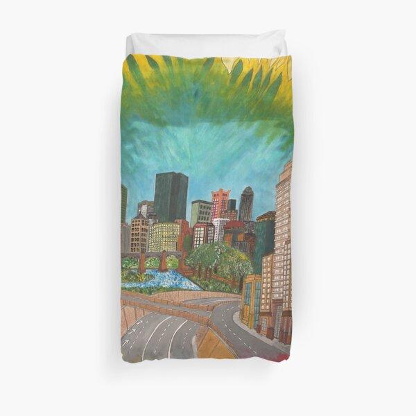 City - vivid Duvet Cover