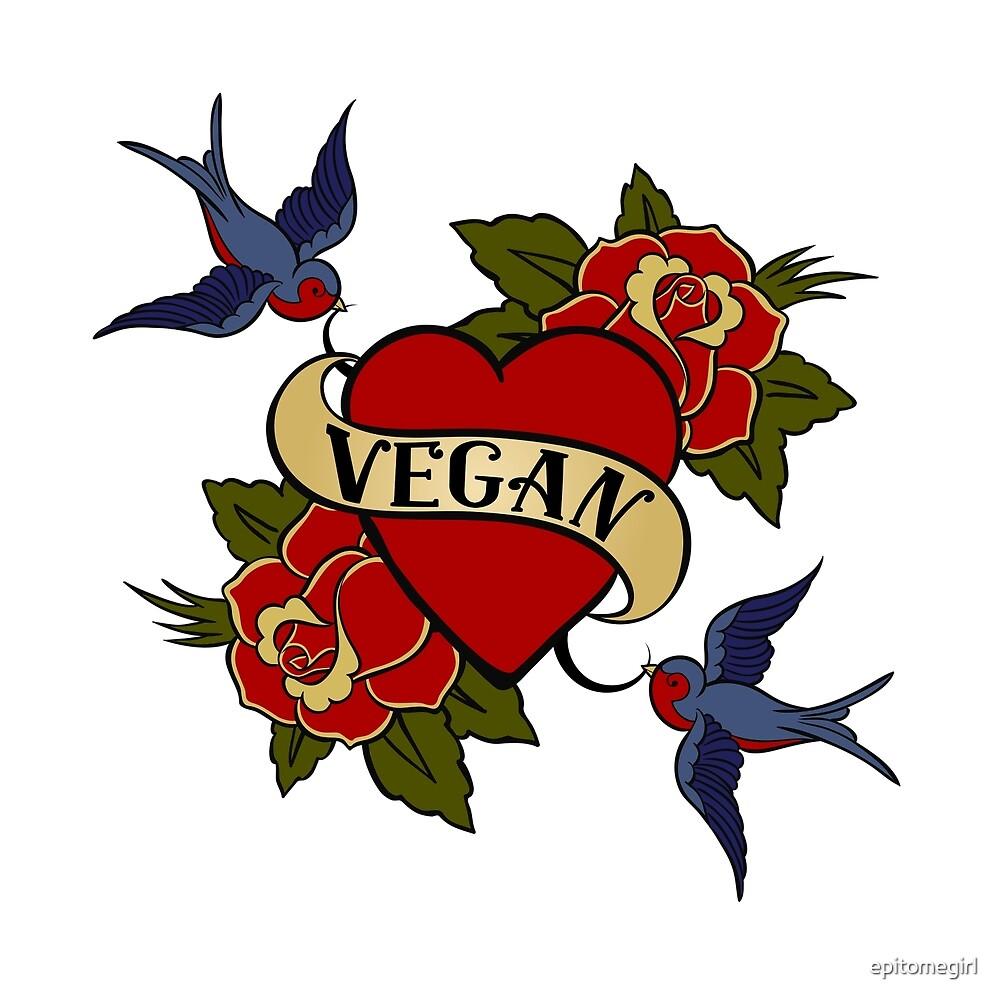 Vegan Vintage Tattoo by epitomegirl