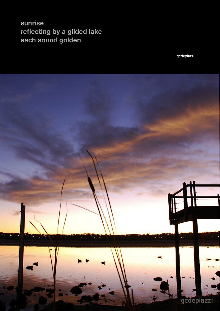 sunrise haiga by gcdepiazzi