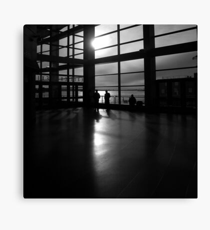 morning, ferry terminal, nyc Canvas Print