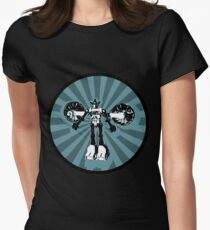Microbot - Blue Ice Women's Fitted T-Shirt