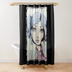 Space Buns - Full-Color Version Shower Curtain
