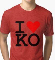 I Heart KO Tri-blend T-Shirt