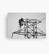 electric linesmen 2 Canvas Print