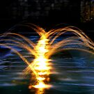Fountains at night by Trevor Kersley
