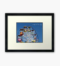 Up to the sky! -Big Wheel, Scarborough. Framed Print