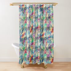 2nd skin - colourful abstract Shower Curtain