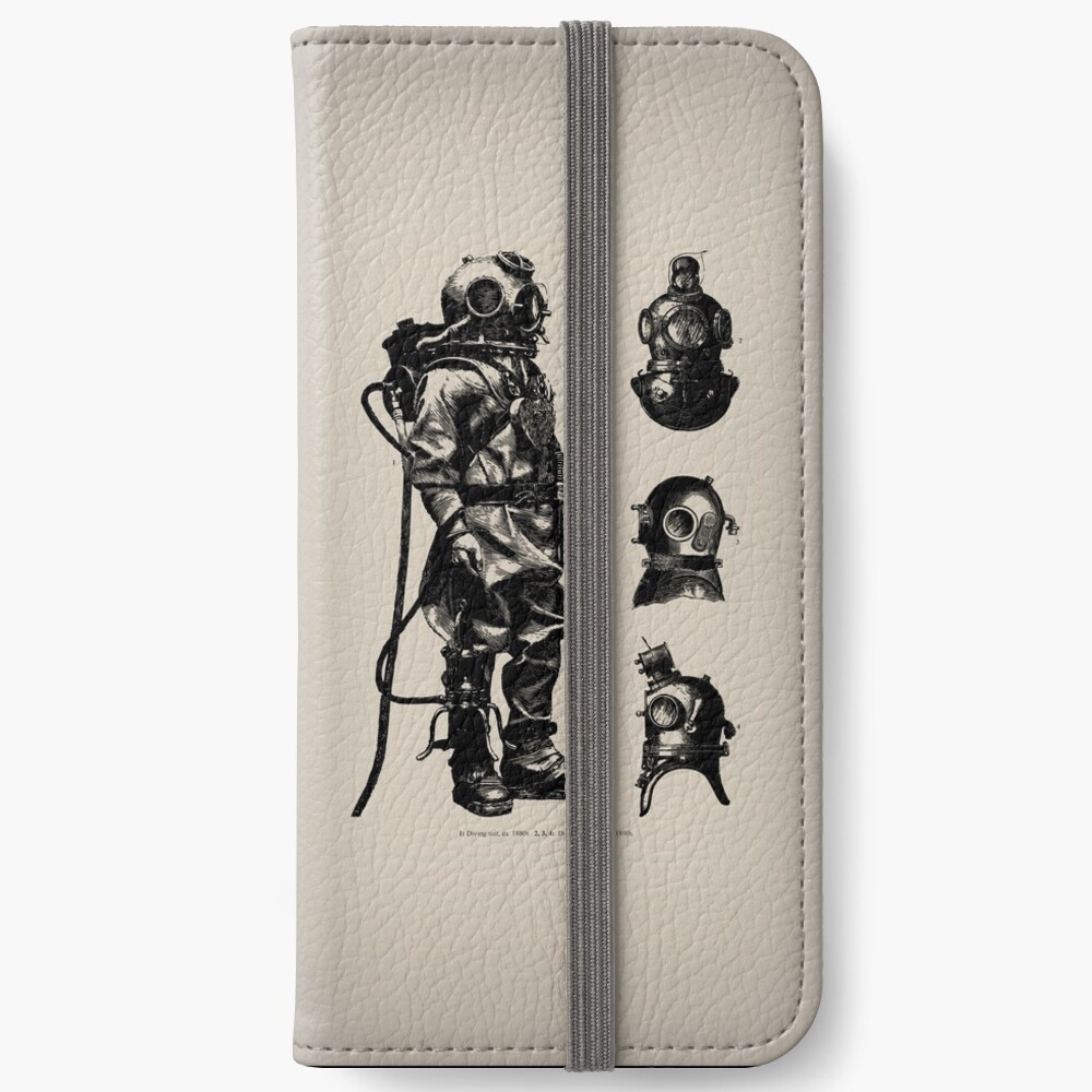 Vintage Deep Sea Diver | Nautical |  iPhone Wallet