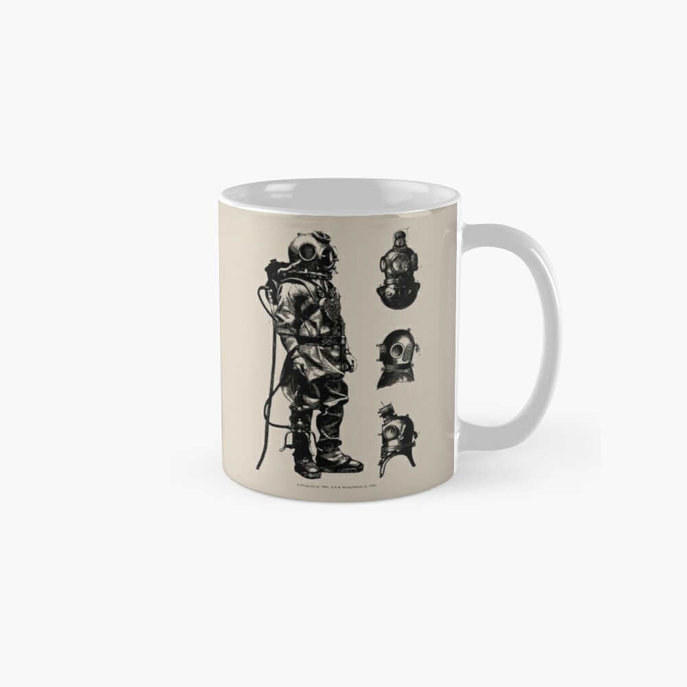 Vintage Deep Sea Diver   Nautical    Classic Mug