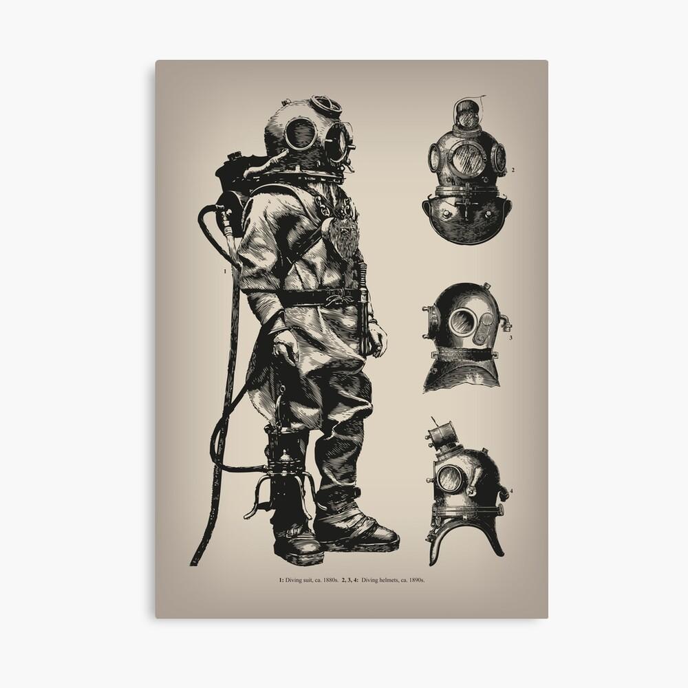 Vintage Deep Sea Diver | Nautical |  Canvas Print