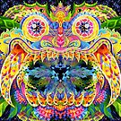 Barong Bali Demon Psychedelic Trippy Art by Andrei Verner