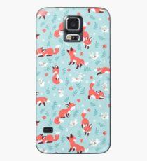 Funda/vinilo para Samsung Galaxy Patrón de Fox y Bunny