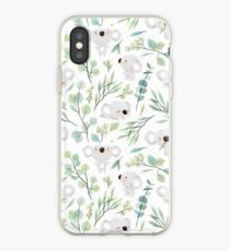 Koala und Eukalyptus-Muster iPhone-Hülle & Cover