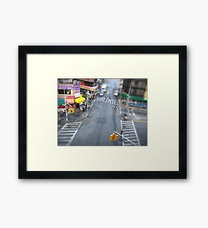 New York City Crossroad Miniature Framed Print