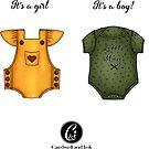 Girl boy gender reveal pregnancy planner stickers  by cardwellandink