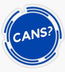 Cans? Transparent Sticker