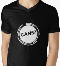 Cans? V-Neck T-Shirt