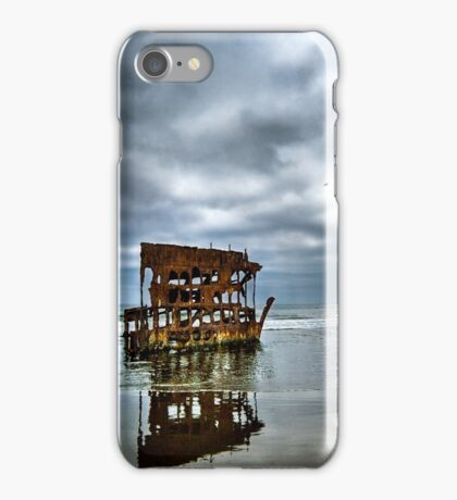 The Wreckage of the Peter Iredale iPhone Case/Skin