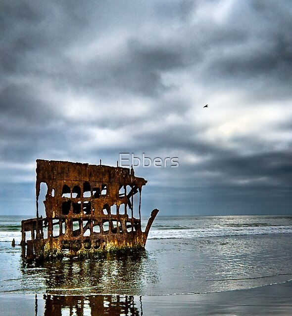 The Wreckage of the Peter Iredale by Ebbers