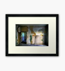 Abandoned Interior Framed Print