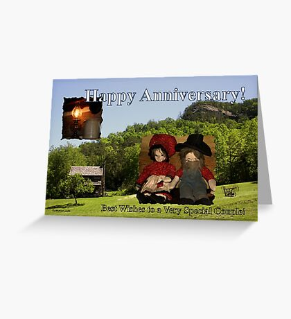Anniversary ~ Dolls from Gladie Creek Greeting Card
