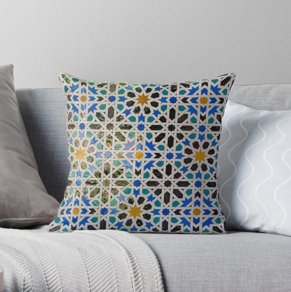 Alcázar of Seville Throw Pillow