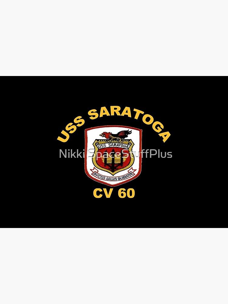 USS Saratoga (CV/CVA/CVB-60) Crest for Dark Colors by Spacestuffplus