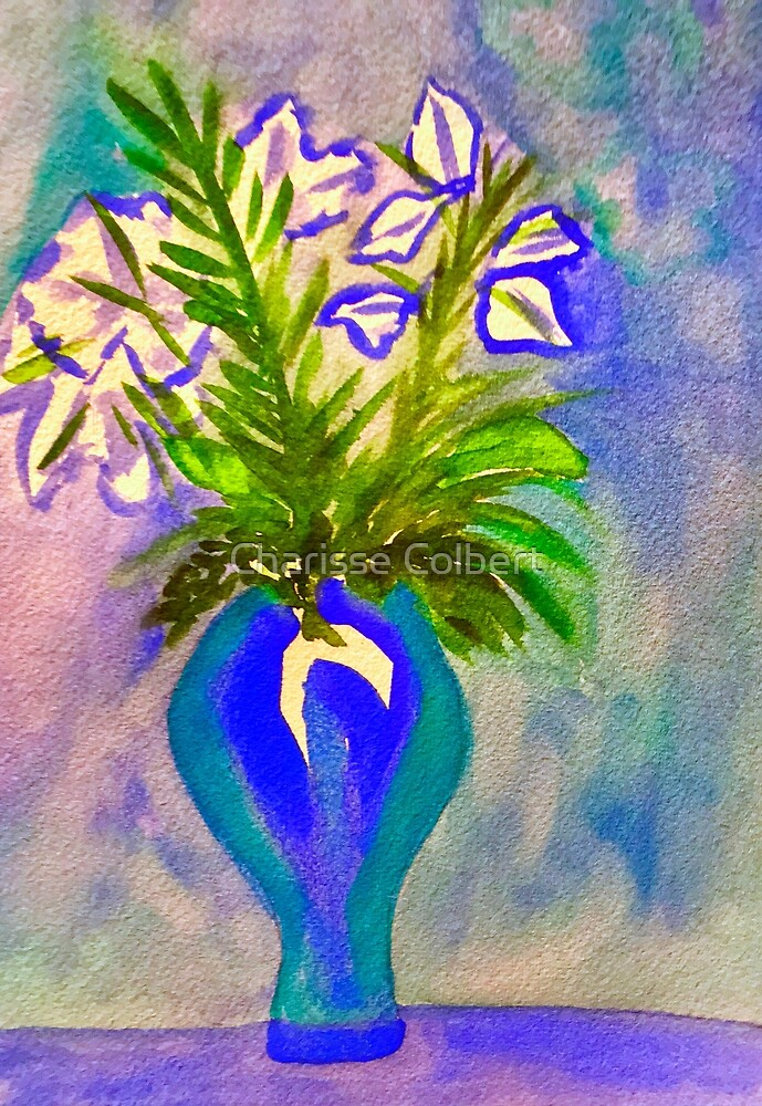 Blue Flowers by Charisse Colbert