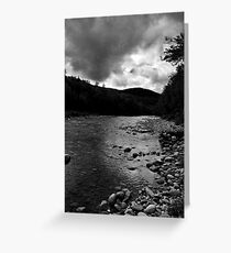 Swift River in Black and White Greeting Card